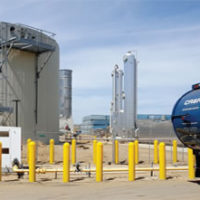Phase 1 Of CR&R's New AD System Has Capacity To Process 83,600 Tons/year Of Yard Trimmings And Food Waste. Four Eisenmann Digesters Are Housed In The Rectangular Building; The Fueling Station Is In The Foreground. Photo Courtesy Of CR&R, Inc.